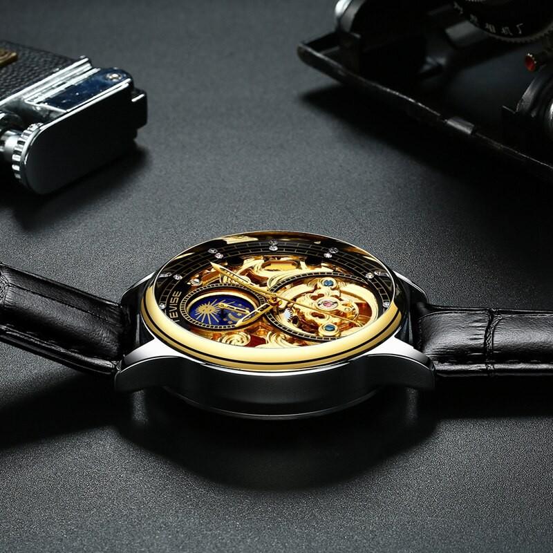 Đồng hồ Cơ Nam TEVISE JORDAN - Dây Da Cao Cấp - Quý Ông Thời Thượng