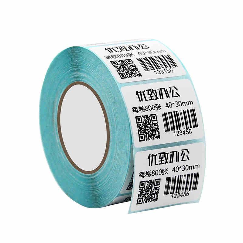Combo 4000 tem mã vạch in nhiệt không cần dùng mực cỡ 4x3cm, tem nhãn 40*30mm