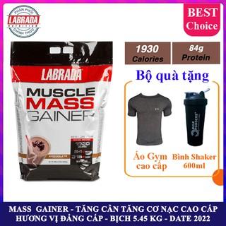 Sữa tăng cân tăng cơ Muscle Mass Gainer hương Chocolate bịch 5.4 kg – Hàng phân phối chính hãng BBT