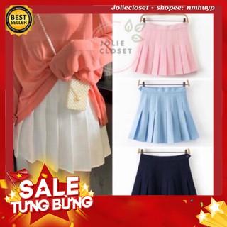 -Hàng nhập khẩu Joliecloset Hot Chân Váy Xếp ly Kaki màu Chữ A Dáng ngắn Váy Thiết Kế xếp ly Liên hệ mua hàng 084.209.