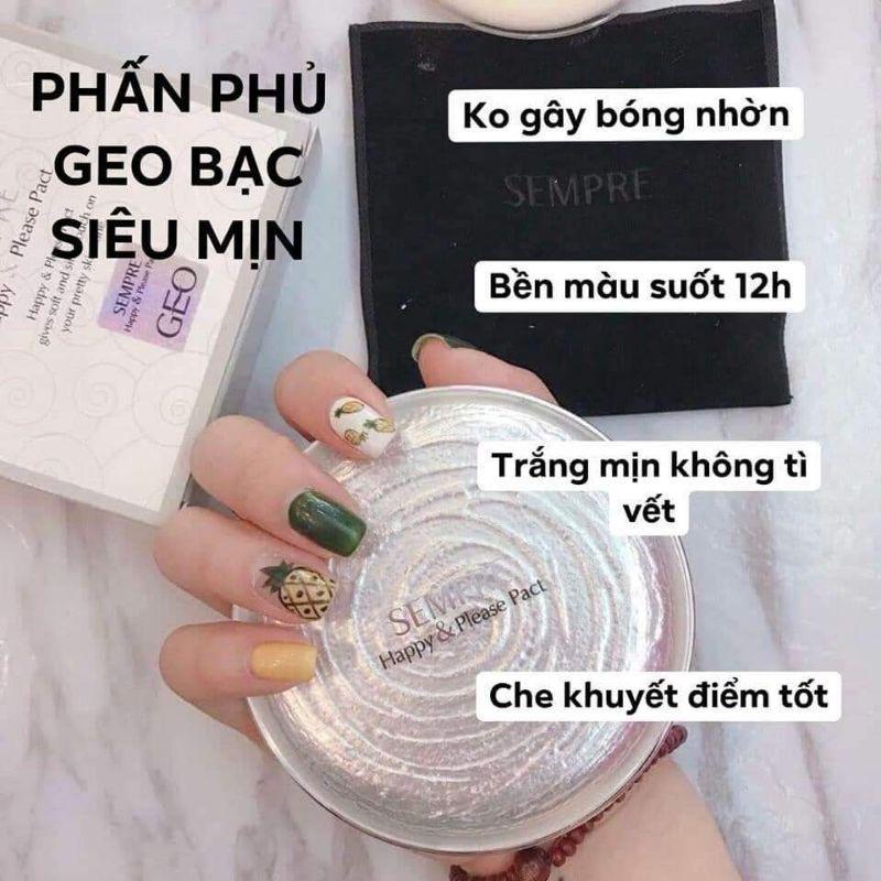 Phấn Geo Trắng siêu mịn Sempre Happy & Please Pac CS54- HÀNG CHÍNH HÃNG