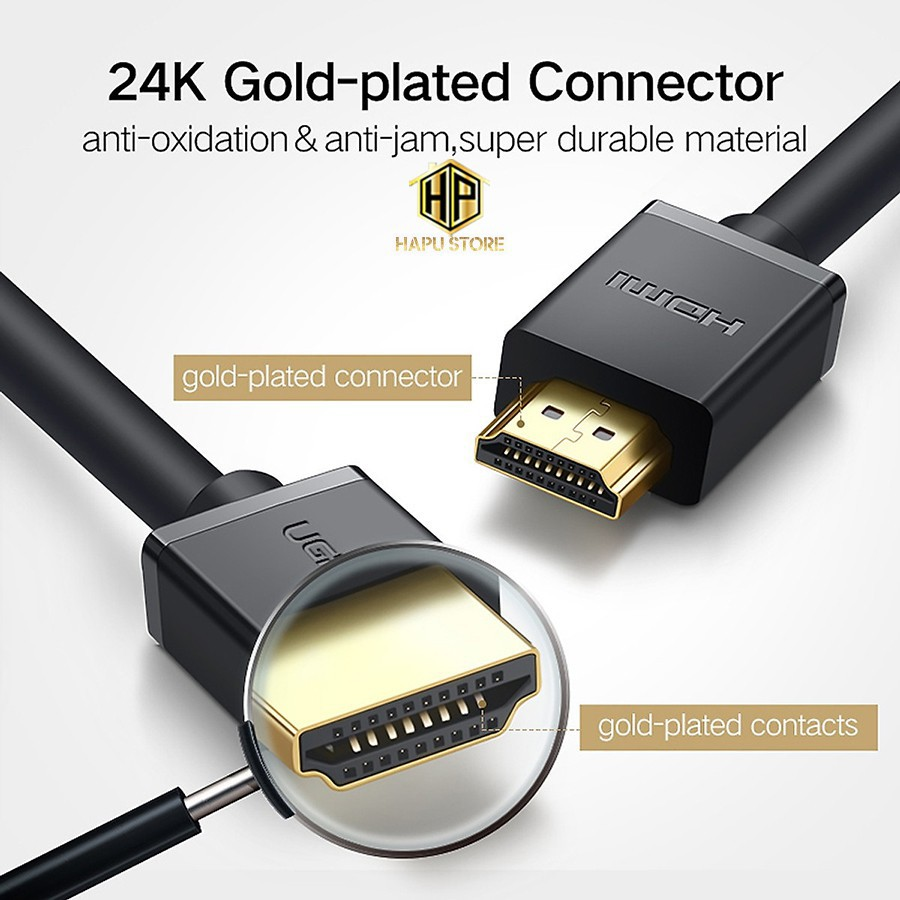 Cáp HDMI Ugreen 10112 dài 20M hỗ trợ Fulll HD cao cấp - Hapustore
