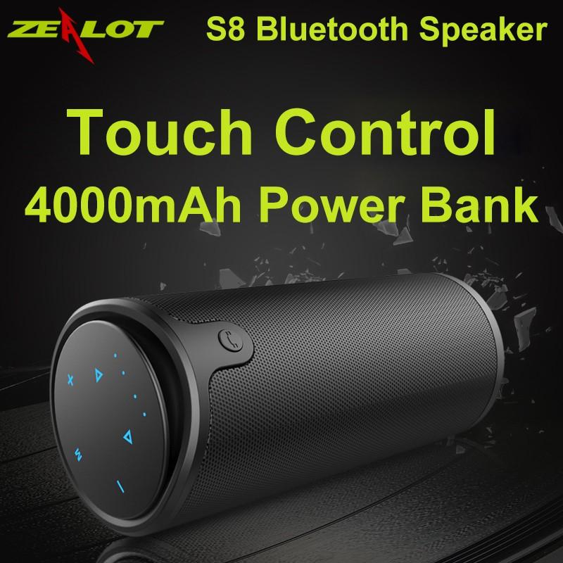 Loa Bluetooth Zealot S8 - Chính hãng - Kiêm máy phát nhạc và sạc dự phòng