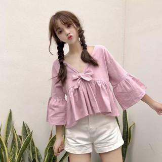 Áo kiểu babydoll nữ Thời trang Hàn Quốc