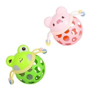Baby Cartoon Sound Light Soft Rubber Hand Grip Ball Rattle Toys