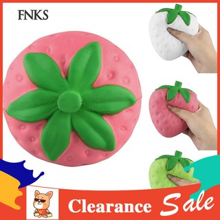 ☞SP Cute Strawberry Slow Rising Squishy Stress Relief Squeeze Toy Phone Bag Pendant