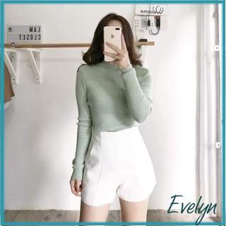 Quần short nữ cạp cao Evelyn kiểu dáng basic thumbnail