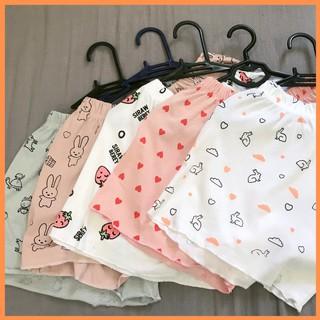 Quần short nữ quần đùi nữ mặc ở nhà – Mẫu ngẫu nhiên quần ngủ thái lan cạp chun họa tiết vải mềm thoáng mát – MSP: P101
