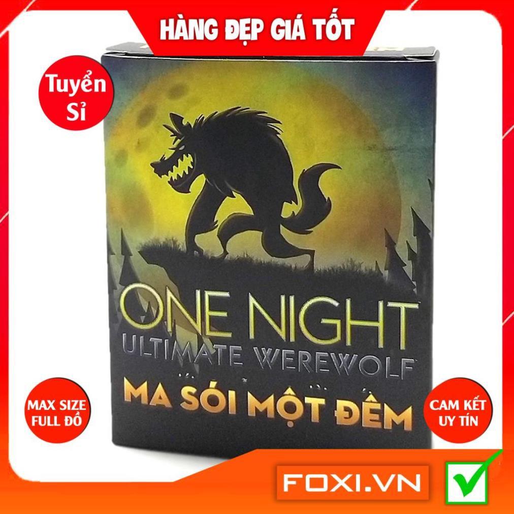 [MÃ HOÀN XU 5-8%] Boardgame Ma Sói One Night Ultimate Werewolf-Phiên bản Việt Hóa-Bài Cao Cấp-Trò chơi trí tuệ