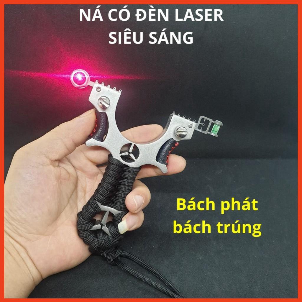 Ná Cao Su Có Ngắm Laser, Ná Thun Inox 304 Chạc Kẹp - Tặng kèm 2 bộ thun siêu mạnh