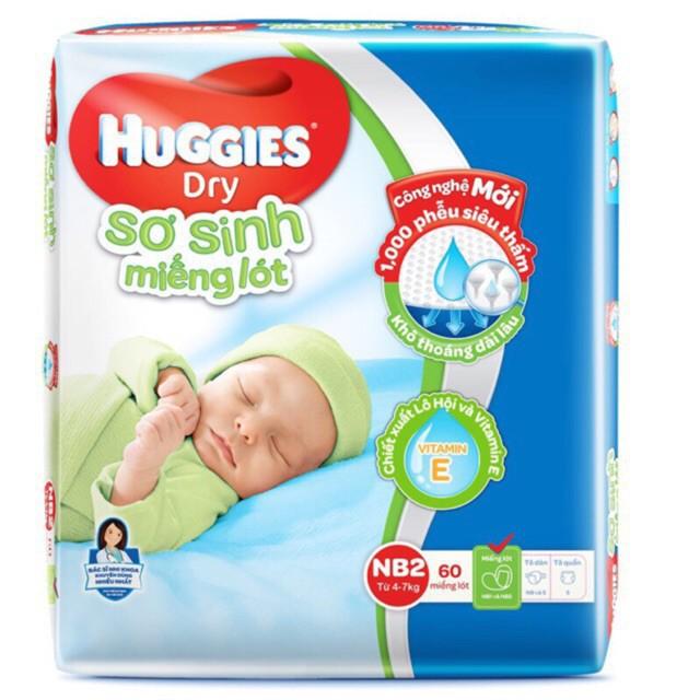 Miếng lót sơ sinh Huggies Nb1-5, Nb2-40... (chuongnguyen