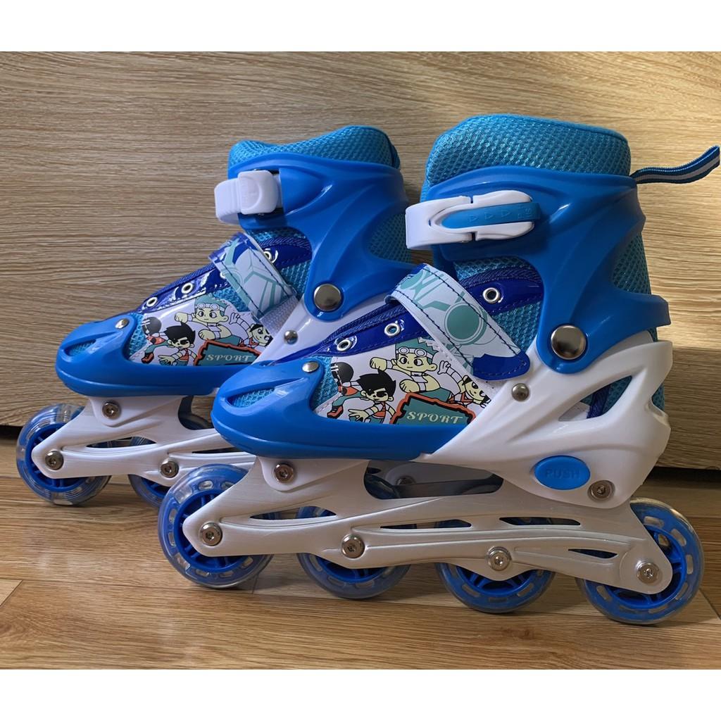 Giày trượt patin trẻ em có đèn sports đủ size