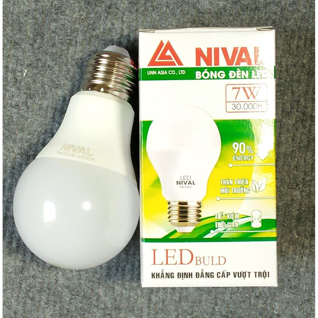 Bóng đèn Led Nival 7W siêu tiết kiệm điện (trắng)