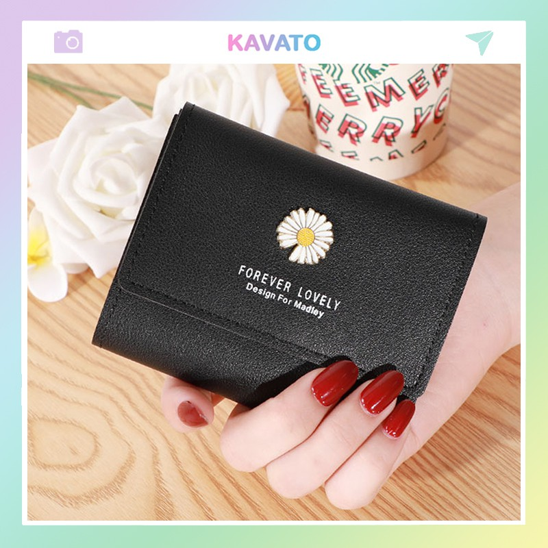 Ví nữ gấp 3 ngắn cầm tay mini cute dễ thương nhỏ gọn bỏ túi thời trang giá rẻ KAVATO VD411