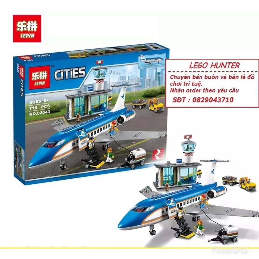 Bộ lắp ghép Lego Lepin 02043 Máy bay dân dụng...