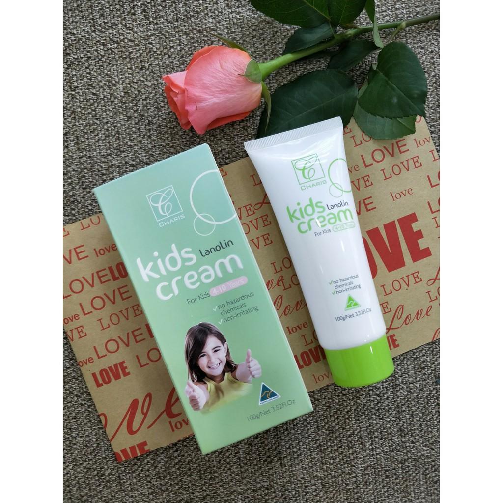 Charis Lanolin Kids Cream - Kem Dưỡng Da Cho Trẻ Em Từ Mỡ Cừu 100gram