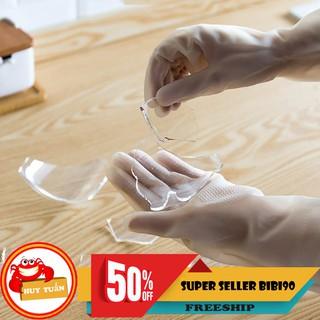 [Mã HC0803 hoàn 10% xu đơn 150K] [FREESHIP] Găng tay cao su siêu bền, tiện lợi (màu trắng) thumbnail