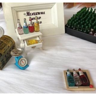 Mô hình chai nước hạt chia trang trí nhà búp bê, chai hạt chia mini, bottle chia seed miniature for doll house
