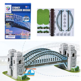 Sydney Bridge Cardboard 3D Puzzle DIY Jigsaw Children Educational Toys Gift