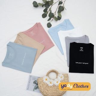 Hình ảnh [Mã WABRAPR20 giảm 15% đơn 149k] Áo phông nữ YODY cổ tròn form rộng vải cotton thoáng mát PPN4134-3