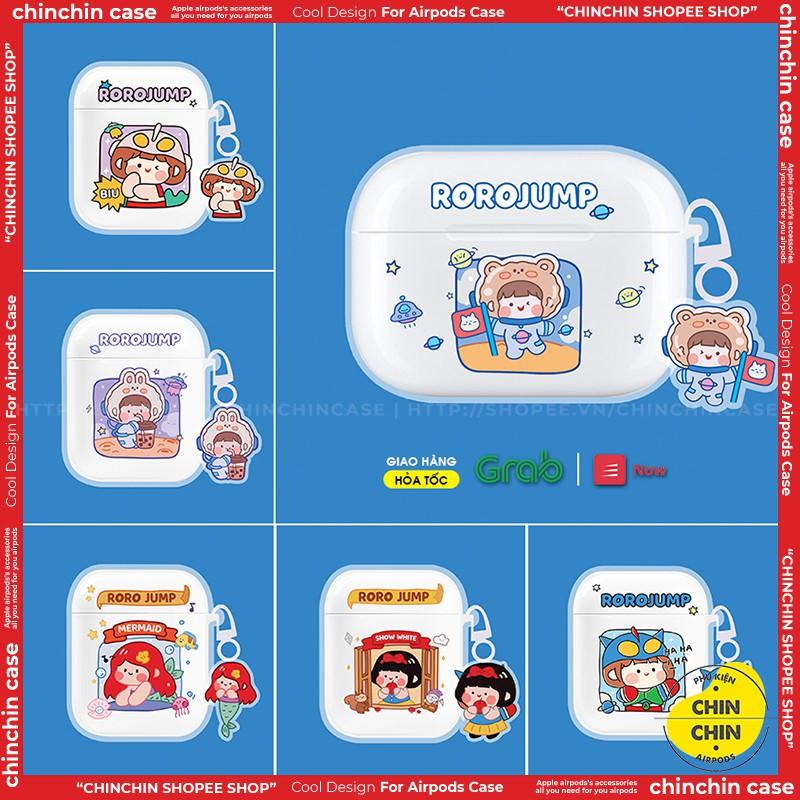 Vỏ Airpod 1/2/Pro Nhựa Dẻo Trong Suốt Hình Rojo Case Airpods Hoạt Hình Dễ Thương - Chinchin Case