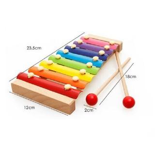 DGK - Đồ chơi Đàn Piano Xylophone gỗ 8 thanh quãng - Đồ chơi âm nhạc cho bé 6
