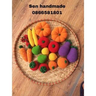 Bộ củ quả handmade đồ chơi cho bé