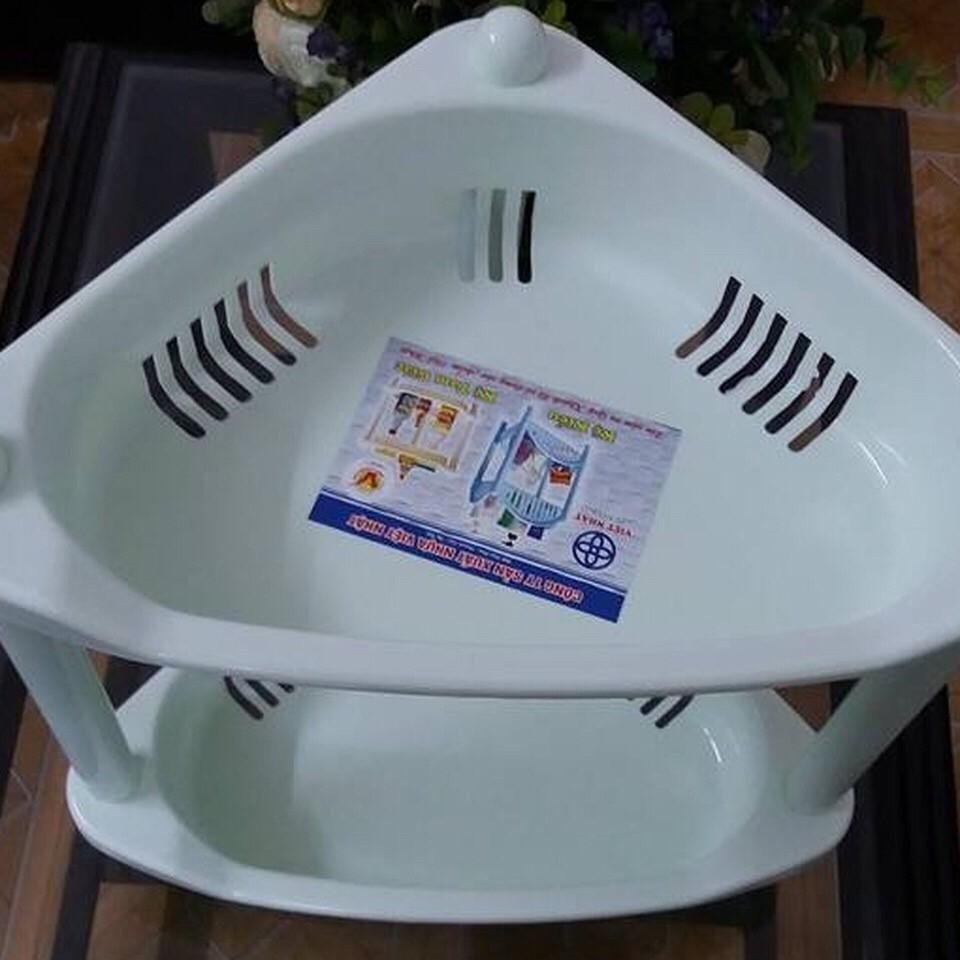 Kệ góc nhựa 2 tầng, 3 tầng Việt Nhật - Kệ góc nhà tắm tam giác nhựa việt nhật chất lượng tốt, giá siêu rẻ