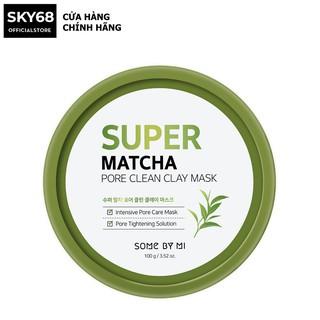Mặt Nạ Đất Sét Giúp Se Khít Lỗ Chân Lông Some By Mi Super Matcha Pore Clean Clay Mask 100g