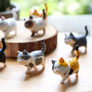 Mèo mô hình trang trí (ĐƯỢC CHỌN MẪU) taplo xe hơi, tiểu cảnh, bàn học, bàn làm việc siêu cute