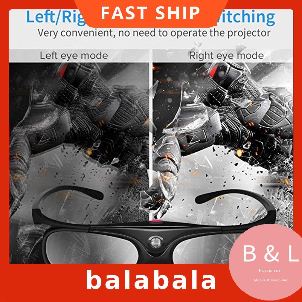 DLP Link 3D Glasses Active Shutter Rechargeable Glasses For DLP 3D Projectors