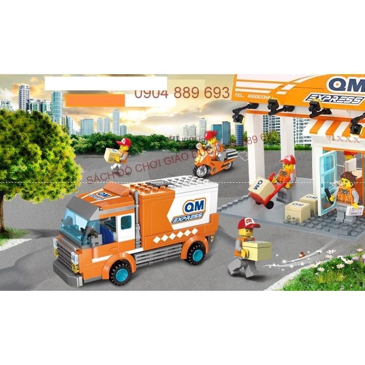 Xếp hình kểu LEGO 337pc miêu tả công việc chuyển phát nhanh