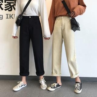 [SẴN] Quần Jeans ống rộng nữ lưng cao Ulzzang Quảng Châu QDJ54
