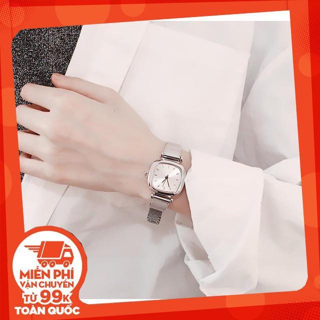 Đồng hồ nữ dây lưới bạc vintage thời trang cực đẹp - CHẤT LƯỢNG CAO