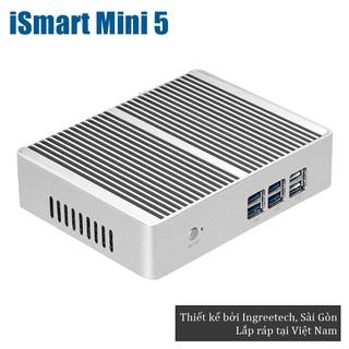 Mini PC Ingreetech iSmart Mini 5 - Intel Celeron 4C 4T RAM 4GB SSD 120GB - Hàng chính hãng - Thương hiệu Việt - Màu Bạc thumbnail