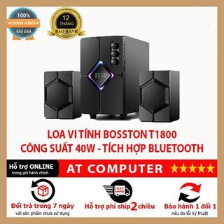 Loa máy tính Bluetooth Bosston T1800 ❤️FREESHIP❤️ Công suất 40w, Led RGB, BH 12 tháng, cổng kết nối 3.5mm – AT Computer