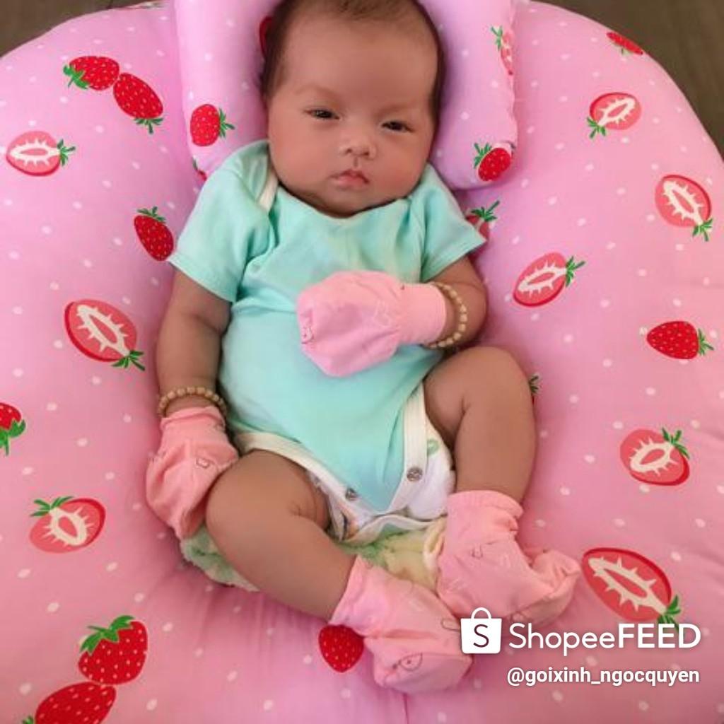 [Mã 267FMCGSALE giảm 8% đơn 500K] gối chống trào ngược cho bé