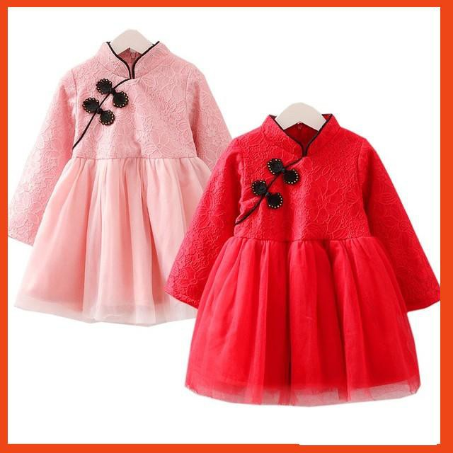 Váy diện tết váy ren lót lông cho bé gái (mặc tết) Hàng cao cấp xuất Hàn màu mới nhất