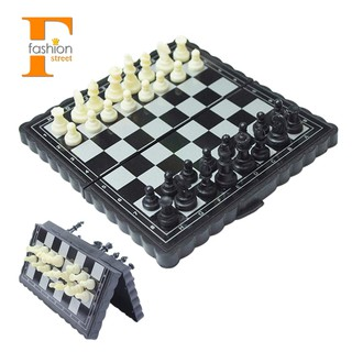 ~stock~5×5 Inch Chess Portable Plastic Folding Board With Magnetic Chess