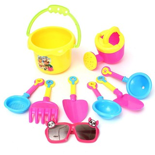 MUL❤ 9 Pcs Beach Sand Spade Shovel Pit Play Kids Water Plastic Toy Set Su