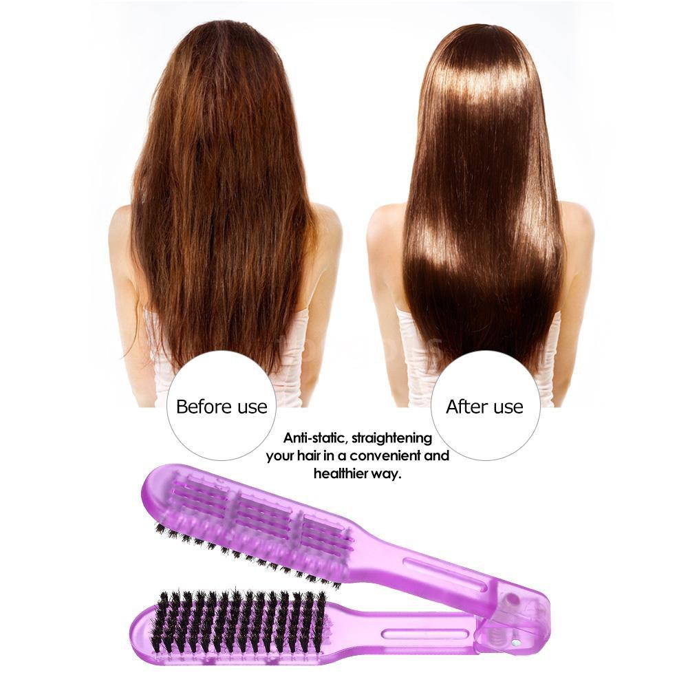 Bàn chải duỗi tóc thẳng hình chữ V chuyên nghiệp tiện dụng
