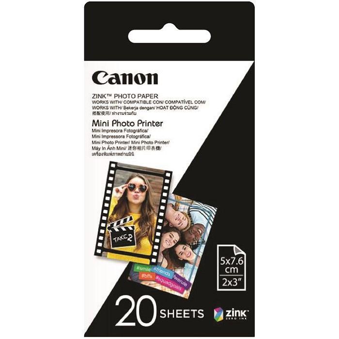 [Mã ELCLXU8 hoàn 8% xu đơn 500K] Giấy in ảnh Canon ZINK dùng cho máy in ảnh Canon PV123 (20 tấm)