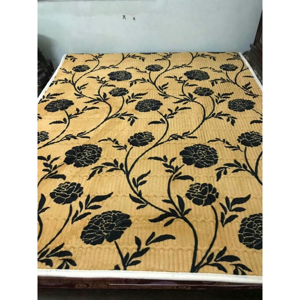 Thảm lông cừu, thảm nỉ nhung trải giường 3 lớp - Nhiều Mẫu Siêu Ấm (Chất Liệu Bông Trắng)