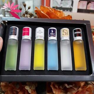 Nước hoa , nước hoa mini chính hãng lưu hương lâu set 6x6ml thumbnail