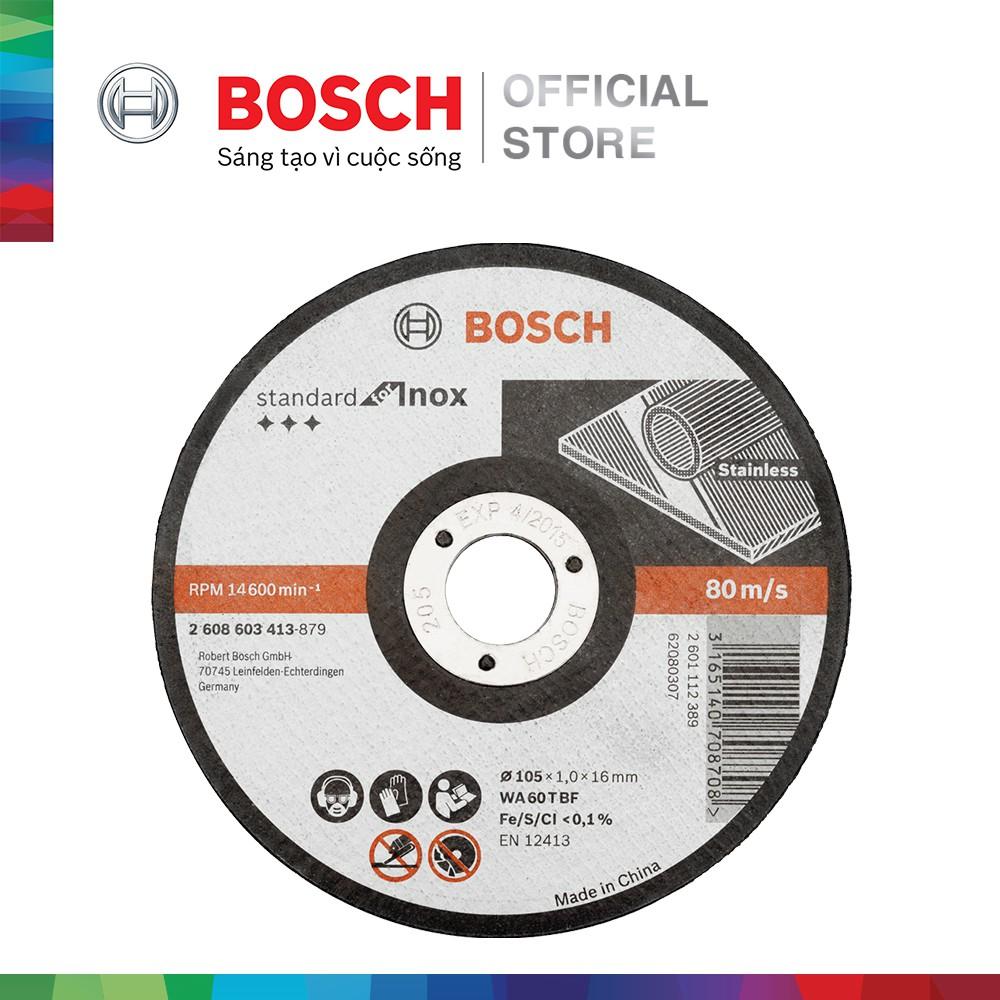 Đá cắt Bosch 105x1.0x16mm (Inox)