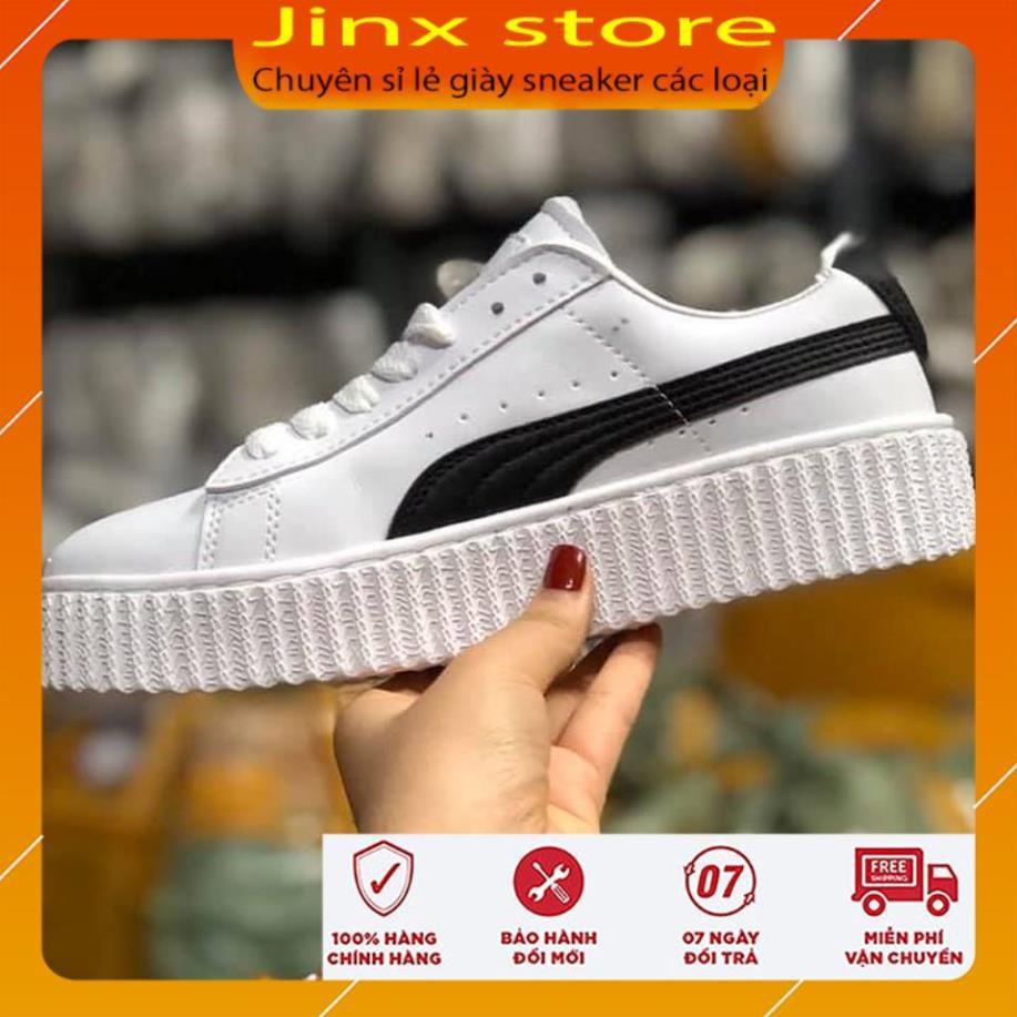 Giày thể thao Puma trắng kẻ đen cao cấp Jinx Store