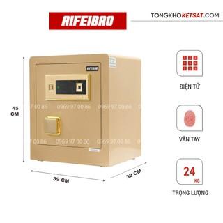 Két Sắt Thông Minh Vân Tay Aifeibao HK-M/D-45-BL Màu Vàng Gold (Miễn Phí Giao Hàng)