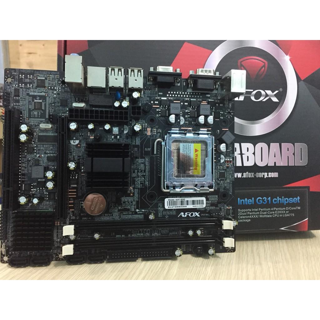 Main AFOX - INTEL® Socket 775, Intel® G31 Express Chipset - 3258165 , 1284988165 , 322_1284988165 , 709000 , Main-AFOX-INTEL-Socket-775-Intel-G31-Express-Chipset-322_1284988165 , shopee.vn , Main AFOX - INTEL® Socket 775, Intel® G31 Express Chipset