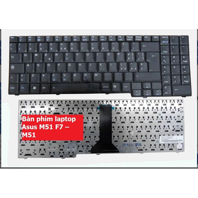 Bàn phím laptop Asus M51 F7 – M51