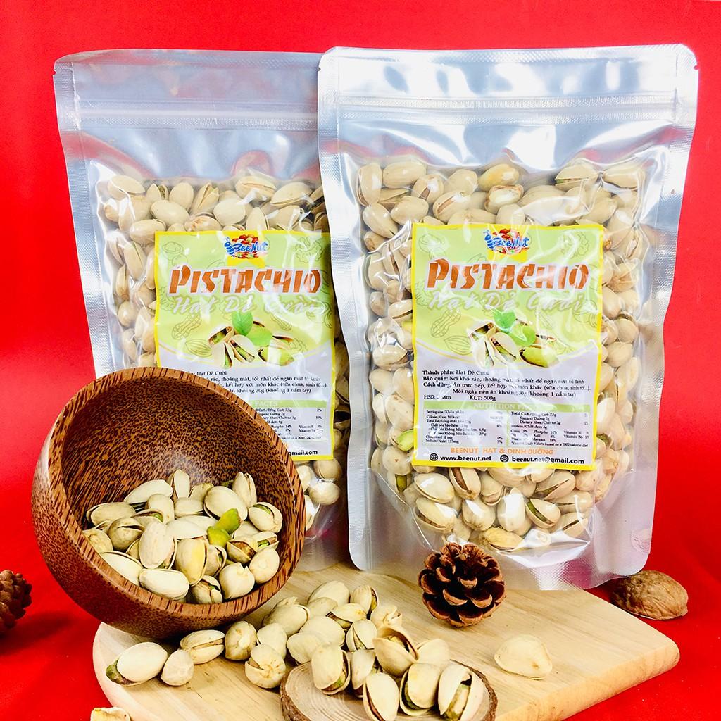 Hạt dẻ cười - Pistachio (1KG) (Combo 2 phần 500g) - Hạt giẻ cười không tẩy trắng, không bị yểu - BeeNut